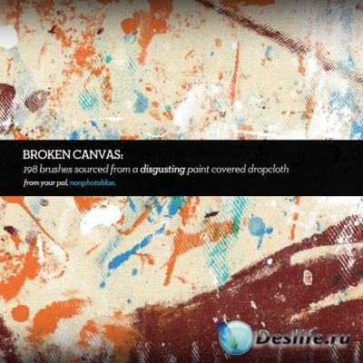 Broken Canvas - Кисти для фотошопа