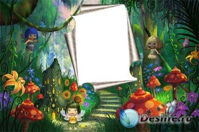 Рамка для фотошопа - Сказочный лес
