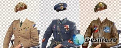 23 Армейских костюма для фотошопа