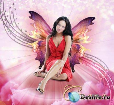Женский костюм для фотошопа - Розовый сон