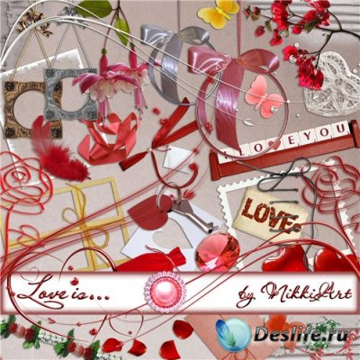 Скрап набор для фотошопа - Love is...