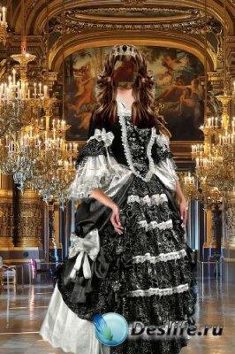 Костюм для фотошопа – Дама в черно-белом