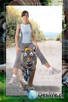 Костюм для фотошопа - Прогулка верхом на тигре