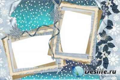 Рамка для фотошопа – Снежная