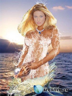 Костюм для фотошопа - Морская царица