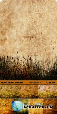 Текстуры - Floral Grunge Textures