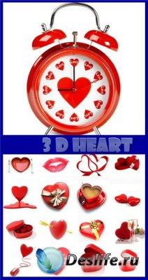 Фотоклипарт - 3d Heart