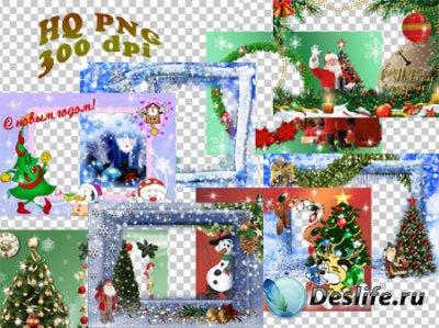 Прекрасные новогодние рамки для фотошопа