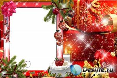 Рамка для фотошопа – Новогодние подарки