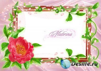 Фоторамка для фотошоп - Дикая роза