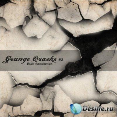 Grunge Cracks 2 - Кисти для фотошопа