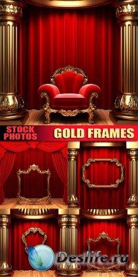 Stock photo - Gold frames / Золотые рамки