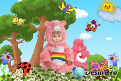 Костюм для фотошопа - Розовый мишка