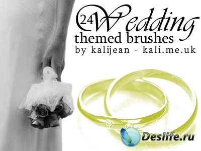 Wedding Themed Brushes - Кисти для фотошопа