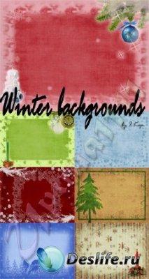 Зимние и новогодние фоны для фотошопа