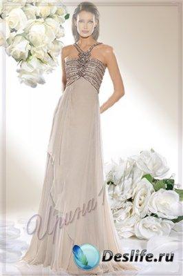 Женский костюм для фотошопа - Белая роза