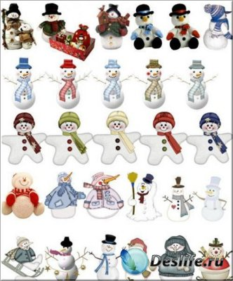Снеговики - Клипарт для фотошопа