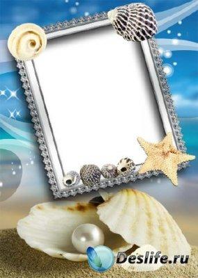 Рамка для фотошопа – Жемчужина