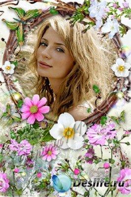 Рамка для фотошопа - В цветах