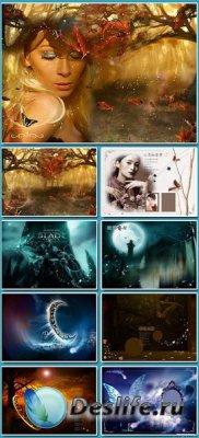 Многослойные фоны для фотошопа - Poster
