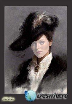 Костюм для фотошопа - Дама в шляпе!