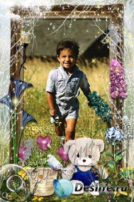 Рамка для фотошопа - Волшебный сад