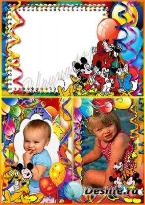 Детские рамки для фотошопа - Воздушные шарики