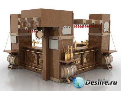 3D модель барной стойки