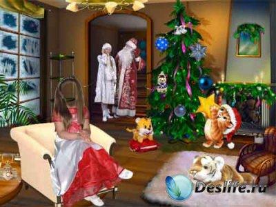 Детский костюм для фотошопа - Деда Мороза вызывали?