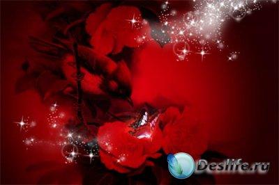 PSD исходник для фотошопа - Red fon