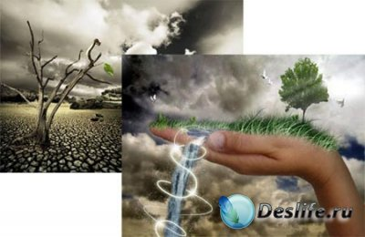 PSD исходники для фотошопа - Природа