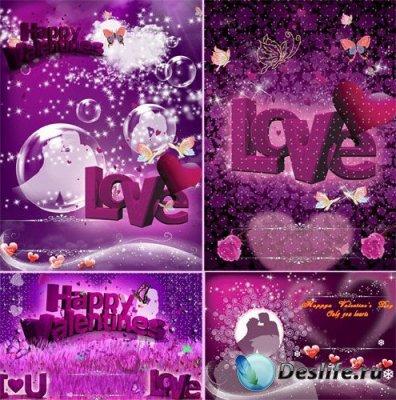 PSD исходники для фотошопа - Love