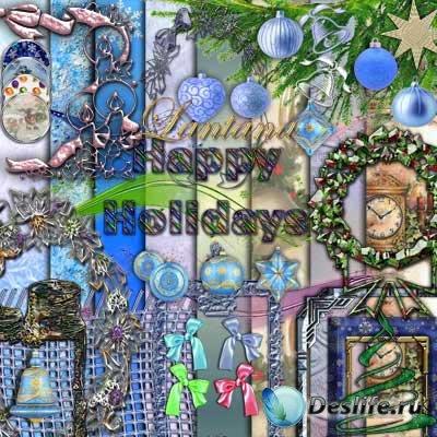 Cкрап-набор для фотошопа - Happy Holidays