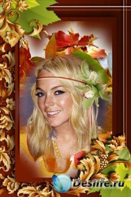 Рамка для фотошопа - Осенняя, Золотая