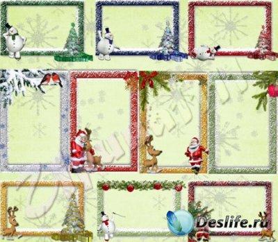 Рамки для фотошопа - Детские новогодние