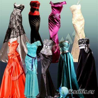 Шаблоны для фотошопа - Вечерние платья
