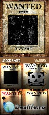 Stock Photo - Wanted / Розыск