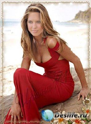 Женский костюм для фотошопа - На берегу океана