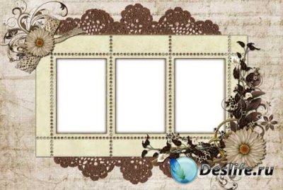 Рамочка для фотошопа - Нежность