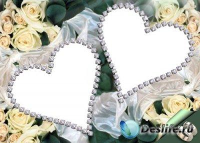 Рамка для фотошопа – Свадебные цветы