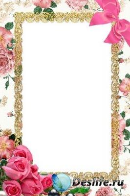 Рамка для фотошопа – Классические розы