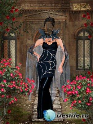 Девушка в черном - Костюм для фотошопа