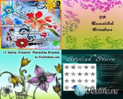 Кисточки для фотошопа - Цветы уголки