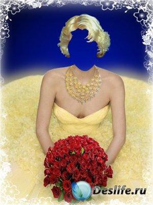 Костюм для фотошоп – Девушка в жёлтом
