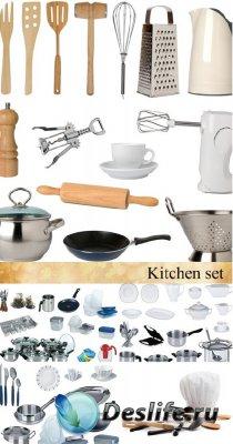 Stock Photo: New kitchen set