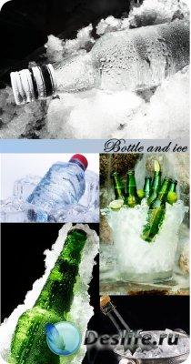Stock Photo: Bottle and ice
