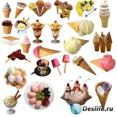 КлипАрт для фотошопа - Мороженое