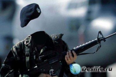 Костюм для фотошопа – Девушка-солдат