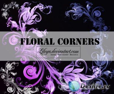 Floral Corners - Кисти для фотошопа