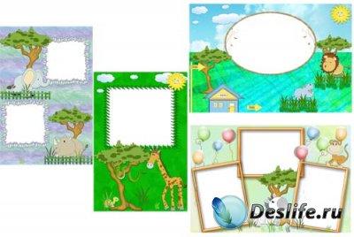 Детские рамочки для фотошопа - В зоопарке